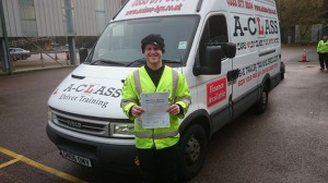 AA patrol man Jo passes his practical driving test 1st time