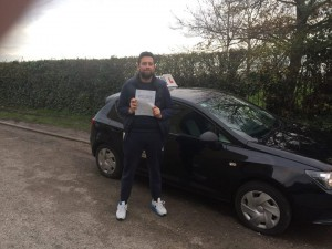 James Wilson passing driving test