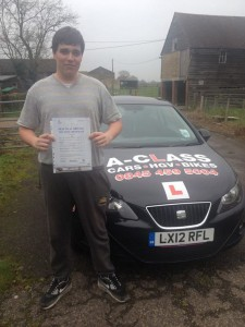 Matthew passes driving test