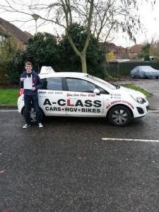Ryan Luckhurst passed driving test 1st time