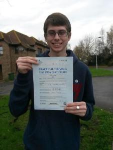 Ryan Luckhurst passed driving test