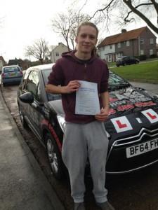 Jamie Rawlings passes driving test
