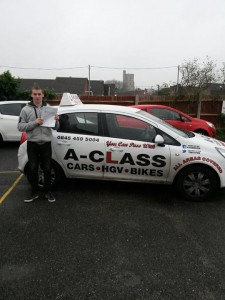 Joe Allan Passes his driving test
