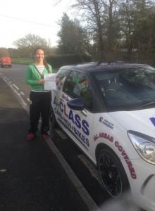 Katrina Rae passes her driving test