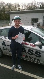 Mason passes practical driving test