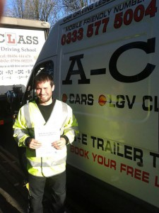 Nicolas brookes with the AA Passes practical driving test