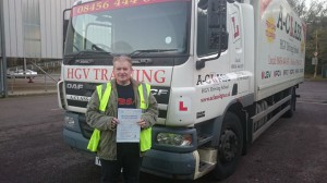 Simon Clinch passing driving test