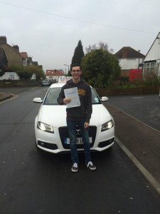 Aiden Jordan passes  driving test