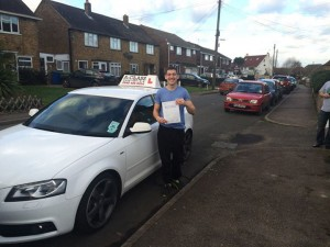 Jed Clifton passes driving test