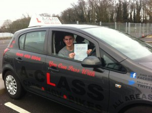 Mitchell Logue passes driving test