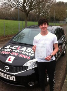 Tyler Sullivan passes driving test