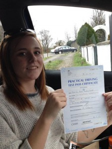 Bonnie of Gravesend passes driving test