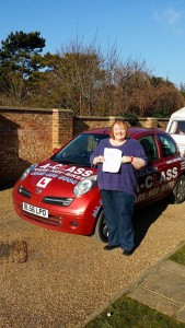 Jill passes driving test