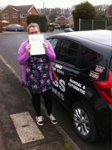 Jodi Allin-Jones passes driving test