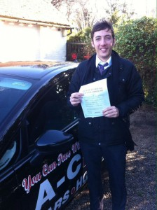 Kyle Galea Passes driving test