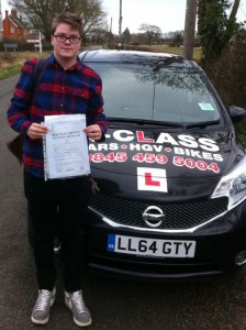 Oscar Ledger-Beadell Passes driving test