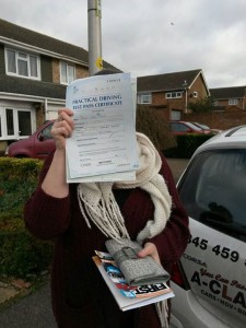 Sarah Slate Passes Driving Test