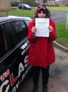 Sian Passes driving test